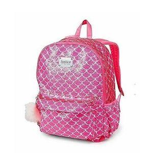 Justice mermaid flip sequin backpack new